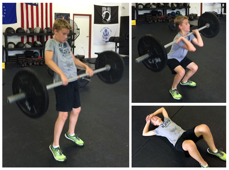 Ethan Lohse at CrossFit 2A age 12