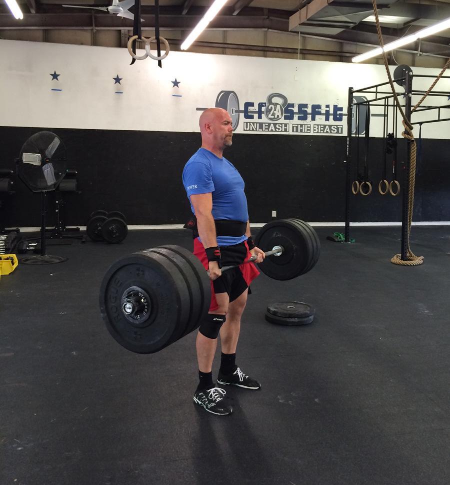 Ron Lohse CrossFit deadlift 320 pounds